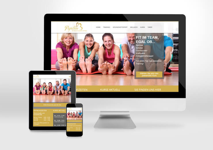 Papillon_Fitness_Webdesign
