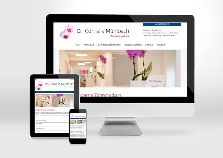 Webdesign Zahnarztpraxis Mühlbach Hameln