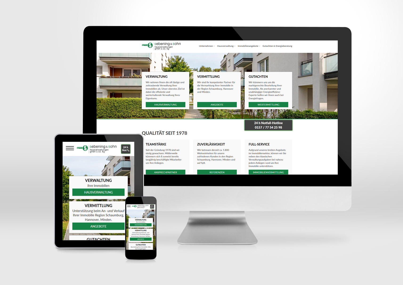 sebening sohn hausverwaltungen gmbh co kg medien 31 hameln internetseiten apps. Black Bedroom Furniture Sets. Home Design Ideas