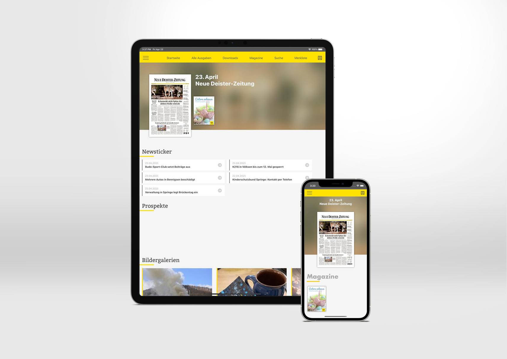 Neue Deister Zeitung E-Paper App